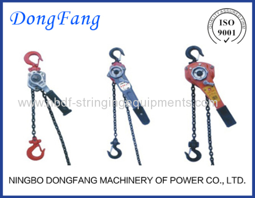 Ratchet Chain Hoist Lever Blocks of Overhead Line Stringing
