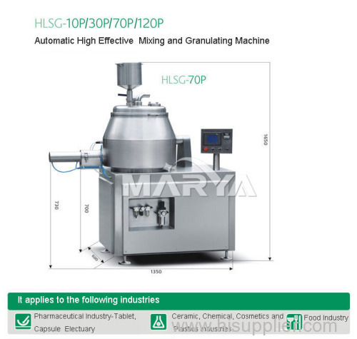 Automatic High Effective Mixing and Granulating Machine