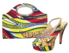 2017 Sling Back African Printed Fabric Shoes and Bags