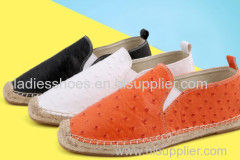 ramie sole shoes espadrilles men flat casual shoes