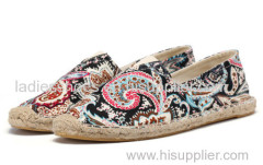 new style fashion hgih quality espadrille soled canvas shoe