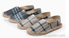 small quantity acceptable cheap chinese espadrille canvas men casual shoe