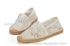 lace ramie sole shoes espadrills men casual shoe