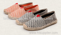 Factory Wholesale Price Customized Espadrilles line-soled Canvas Shoe