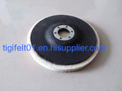 Good quality wool felt polishing wheels for stone