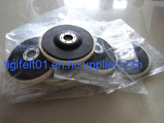 Wholesale price 100% wool felt wheels with fiberglass disc