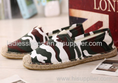 colorfull printed ramie sole shoes espadrilles men casual shoe