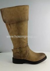 Fashion round toe chunky heel boots