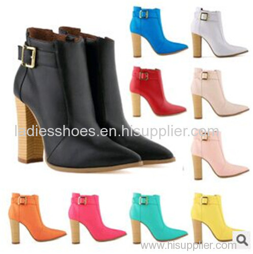 Colorful women fashion high heel leather boot