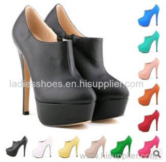 basic style women fashion high heel boot with platform