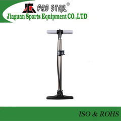 Well Design Solid Made Bicycle Floor Pump with accurate pressure gauge