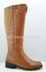 Round toe chunky heel boots