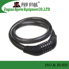 Bicycle Parts Safety Coded Steel Cable Bike Lock Motorcycle Lock