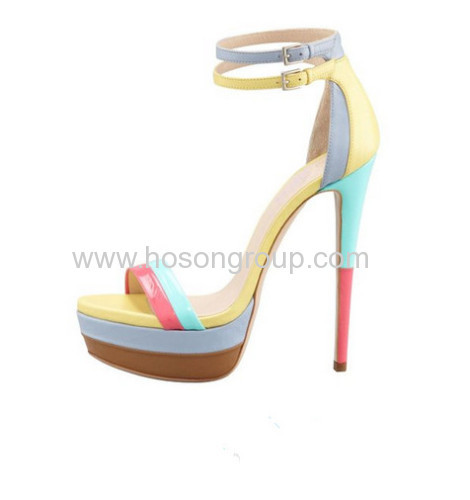 Comfortable ankle wrap stiletto heel shoes