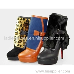 Direct factory cheap high heel colorful boot women