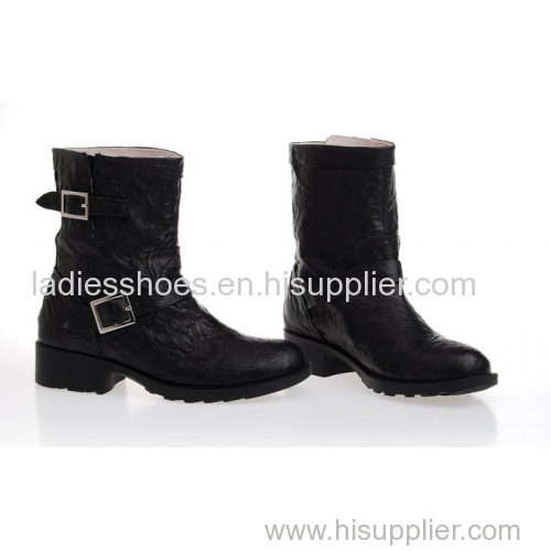 latest design China wholesale women boot shoe with rivets chelsea boot ladies high heel ankle roman