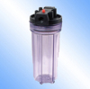 Single tranparent filter canister