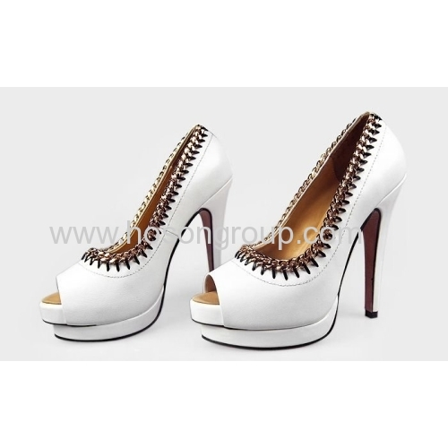 New fashion peep toe stiletto dress sandals