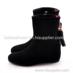 new fashion black flat women fashion ankle boot