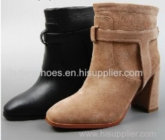 basic style square chunky heel women fashion ankle boot