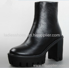 high quality genuine leather comfortable women ankle boot
