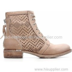 latest wholesale lace up zipper women ankle boot