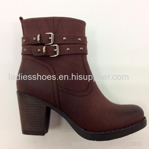 new basic style women low heel round toe ankle boot