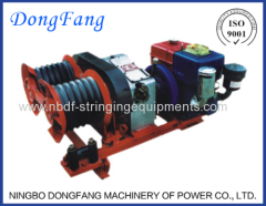 Winches motorizados de equipos de construcción de línea de transmisión