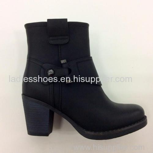 latest fashion low heel buckle women ankle boot
