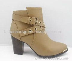 fashion chunky heel women buckle mulheres boots
