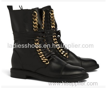 two color men black lace up fashion falt women ankle boot