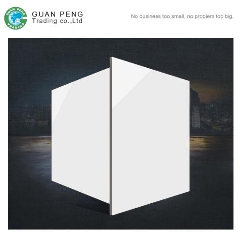 Glossy Shiny Super White Floor Tile Nano Polished Porcelain Tiles 600x600mm