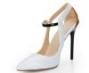 Ladies pointy toe stiletto heel dress shoes white