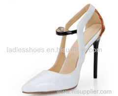 Women pointy toe stiletto heel dress shoes white