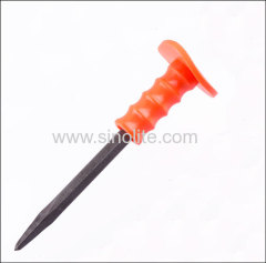 Rubber Handle Pointed Cold Chisel