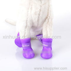 Waterproof Latex Dog Rain Shoes
