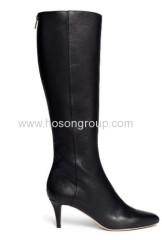 Fashion back zipper high heel boots