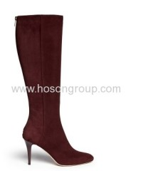 Fashion pointed toe high heel suede boots