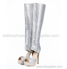new style peep toe stiletto heel lady boots