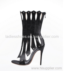 latest romen design hallow out lady dress sandals