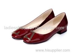 patent leather dark red low high women casual comfortable shoe