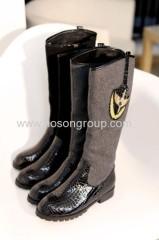 Comfortable women chunky heel boots