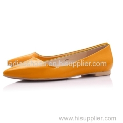 basic style women fashion flat yellow women dress shoe