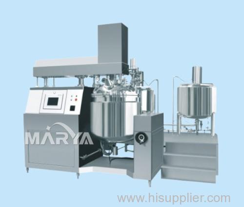 Hydraulic Lifting Vacuum Emulsifier PLC Control