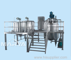Vacuum Emulsifier with Outer Circulation