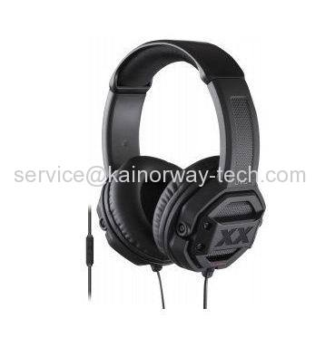 JVC HA-SR50X XX Series Xtreme Bass On-Ear Headphones Headsets With Button Remote And Mic Black