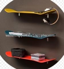 wood skate board shelf / skateboard