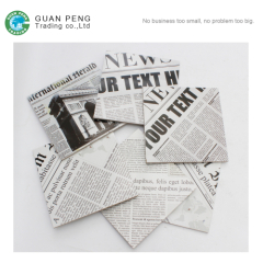 Black And White Ceramic Tiles Newspaper Dining Room Floor Wall Tile 30 x 30cm Paper