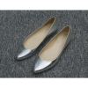 manufactory patent leather women fashion flat silver dress shoes