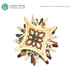 Decoration Rustic Flower Tile Accessories Prices For Round Corner Ceramic Floor Tiles